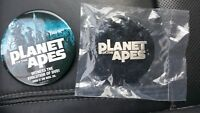 Planet of the Apes 2001 Promo Metal Movie Pin New in package with bonus DVD Pin