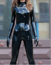 100% Latex Sexy Suit Rubber Tights Black Bodysuit Cool Catsuit 0.4mm Size S-XXL