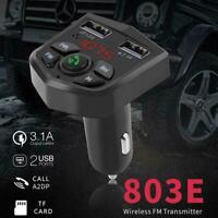 Bluetooth 5.0 FM Transmitter Handsfree Car Kit Adapter USB MP3 Radio B7N7
