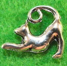 10Pcs. Tibetan Silver 3D CAT Kitty Charms Pendants Earring Drops Findings C24