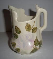 HTF UNIQUE SHAPE Waffled Small HP Pitcher Pinkish Flower Peony? Cash Family 1945