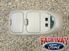 02 thru 04 F250 F350 F450 F550 OEM Ford Parts Med Parchment Tan Overhead Console