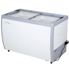 "49"" Ice Cream 8 Tub Dipping Cabinet Display Freezer Chest Glass Sliding Top Door"