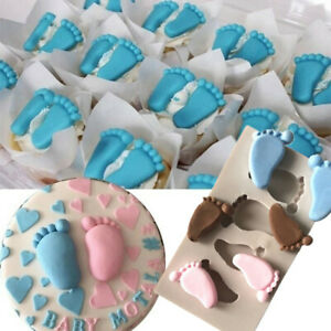 3D Baby Foot Cake Fondant Mould Silicone Chocolate Mold Soap Baby Shower Decor