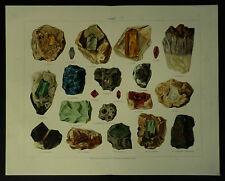 1899 Gems Gemology Joseph Meyer Chromolitho Print