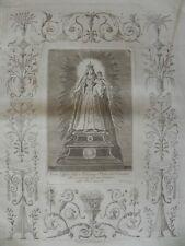 Madonna Del Carmine Maria Carmen Carmelo Bombelli Roma acquaforte originale 1800