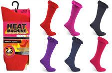 Heat Machine Ladies Plain Socks Thermal Thick Warm Winter Outdoor Regular Wear