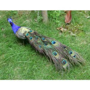 Realistic Artificial Peacock Bird Home Garden Yard Decorative/Ornament