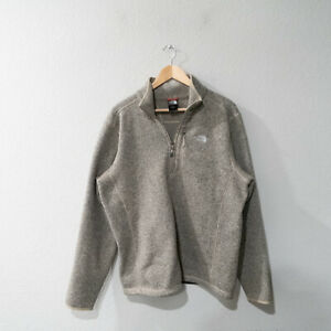 The North Face Men's Beige Gray Pullover Half Zip Size Large
