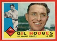 1960 Topps #295 Gil Hodges EX-EX+ WRINKLE Los Angeles Dodgers FREE SHIPPING