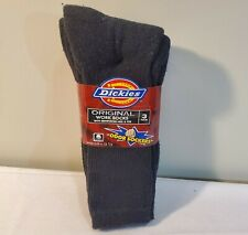 Dickies Work Crew Socks With Reinforced Heel & Toe Thick 3 Pair Size 6-12 Mens
