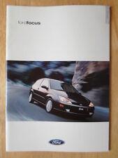 FORD FOCUS RANGE 2000 UK Mkt prestige sales brochure - CL Zetec LX Ghia 2.0i