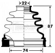 Borg & Beck Driveshaft Bellow CV Joint Boot Kit BCB2904 - 5 YEAR WARRANTY