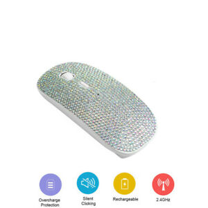 Rechargeable 2.4g Wireless Mouse with USB Receiver Bling Dazzling Mouse