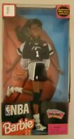 NBA VINTAGE SAN ANTONIO SPURS AFRICAN AMERICAN BARBIE DOLL WITH SPURS STOCKING