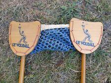Ancien rare jouet jeu VOLBALL raquettes bois filet TBE années 50/60