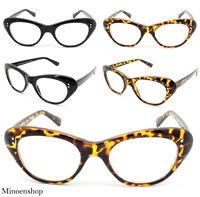Retro Vintage 50's Women's Ladies Rockabilly Cat Eye Clear Lens Glasses