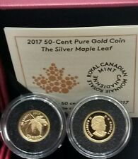 2017 Maple Leaf Acer Saccharinum 50 Cent 1/25OZ Pure Gold Proof Coin Canada