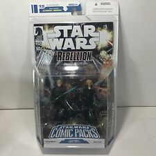 STAR WARS REBELLION COMIC PACKS LUKE SKYWALKER & DEENA SHAN HASBRO 2009 FIGURES