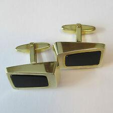730 - Aparte Manschettenknöpfe aus Gelbgold 333 mit Onyx -1769-