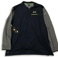 NWT New Seattle Seahawks Nike Coaches Sideline HZ Size 3XL Performance Jacket