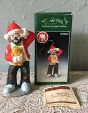Emmett Kelly Jr. Christmas Ornament Clown Hand Signed W/ Box Flambro #9762