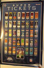 """2005 Super Bowl XXXIX Tickets 16 x 24"""" Poster New England Patriots Eagles"""