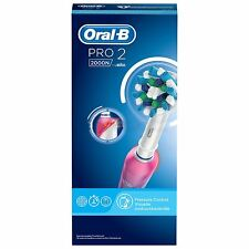 Oral-B Pro 2000W 3D White Electric Rechargeable Toothbrush Powered By Braun Pink
