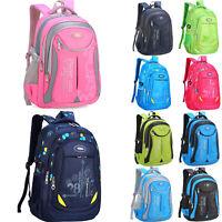 Waterproof Backpack Girls Boys Travel School Bag Kids Rucksacks Shoulder Bags