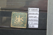 STAMPS OLD STATES GERMANY WUTTENBERG N°33 USED (F108549)