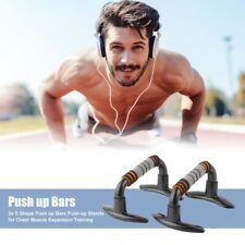 Pull Push Up Bars Press Stand Arm Chest Exercise Fitness Indoor Gym FoamHandles