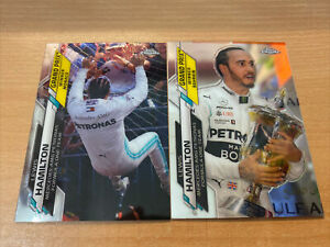 Topps Chrome Formula One F1 Lewis Hamilton Cards x 2 - #134 & 138