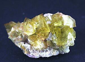 gelber Fluorit(mehrfach zonar)  Dörfel (Erzgebirge)Sachsen 95x65x60