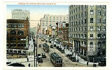 Vancouver British Columbia BC-TROLLEY ON HASTINGS STREET WEST-Postcard Canada