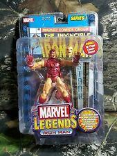 NIB SEALED Marvel Legends Iron Man Series I 1 Yellow Suit  Figure ToyBiz 2002 AG