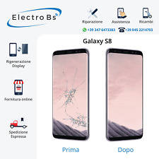 Rigenerazione Sostituzione Riparazione Vetro Rotto Display Samsung S8  G950F