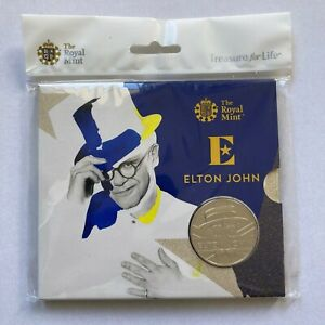 2020 UK £5 Elton John Illustration Brilliant Uncirculated Coin ONLY 15,000