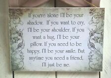 Handmade friends plaque sign work collegue birthday gift leaving present quote
