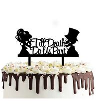 Till Death do us part Skull Wedding Cake topper Anniversary