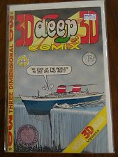 3D Deep Comix #1 Complete with Glasses Underground Comix Comic Book High Grade