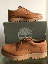 Timberland Jacksons Landing Waterproof Oxford Shoes Rust Full Grain Size UK 11
