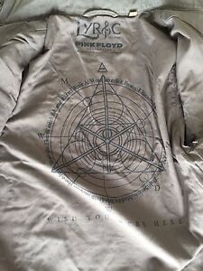 LYRIC CULTURE  THE SONG THAT FIT  JACKET FOR PINK FLOYD ( SMALL) $225