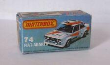 Repro Box Matchbox Superfast Nr.74 Fiat Abarth