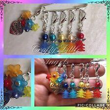 Fatto a mano Snag Libero Rainbow Angel Crochet Stitch Marker contatori/Vendita