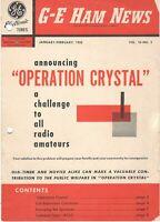 GE HAM NEWS Jan-Feb 1955 Vol 10 No. 1 Announcing Operation Crystal