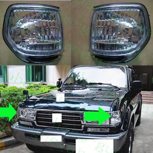 2x Car Front Corner Light Covers For Toyota Land Cruiser LC80 4500 FZJ80 1991-97