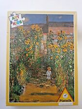 PIATNIK ART FOR KIDS puzzle ~ Claude Monet Garden at Vetheuil ~ 100 piece ~ NEW