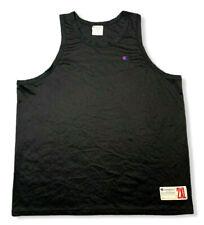 Champion Men's 2Xl Black Tank Top Mesh Embroidered Logo