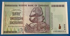 ! Zimbabwe $50 trillion banknote uncirculated MINT CONDITION paper money US !