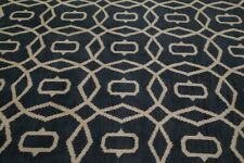 Thick Plush Geometric Circles CHARCOAL Moroccan Oriental Area Rug Hand-made 8x10